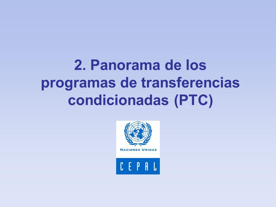 2. Panorama de los programas de transferencias condicionadas (PTC)