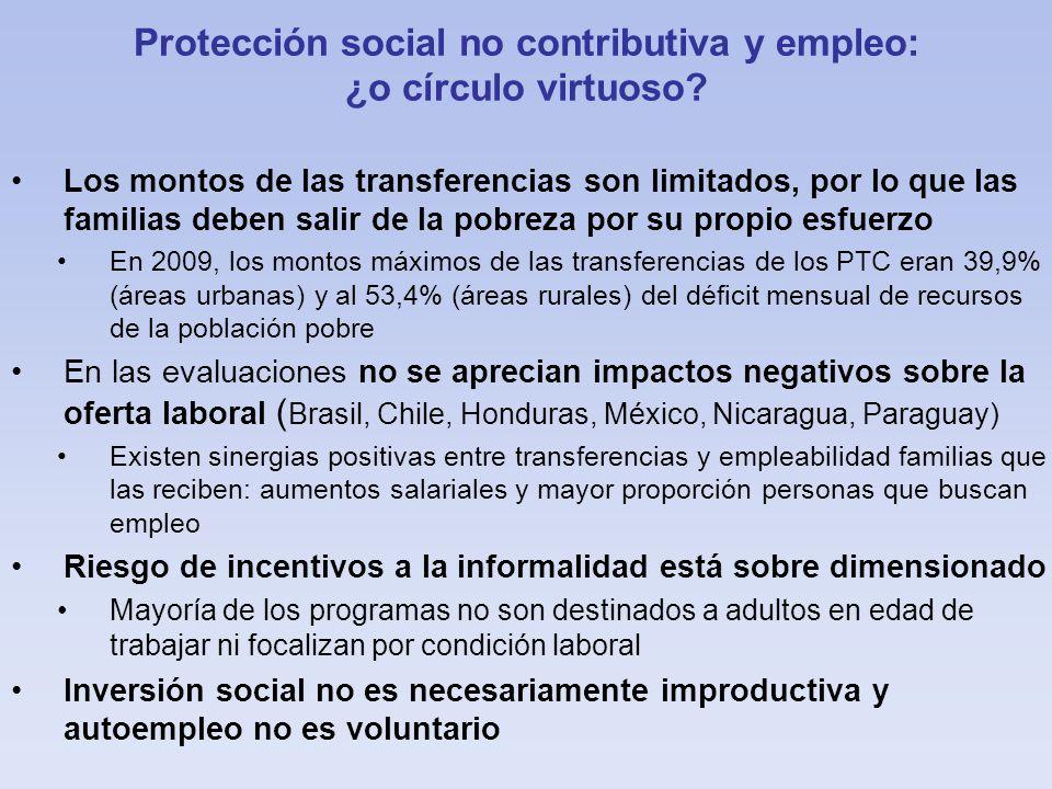Protección social no contributiva y empleo: ¿o círculo virtuoso.