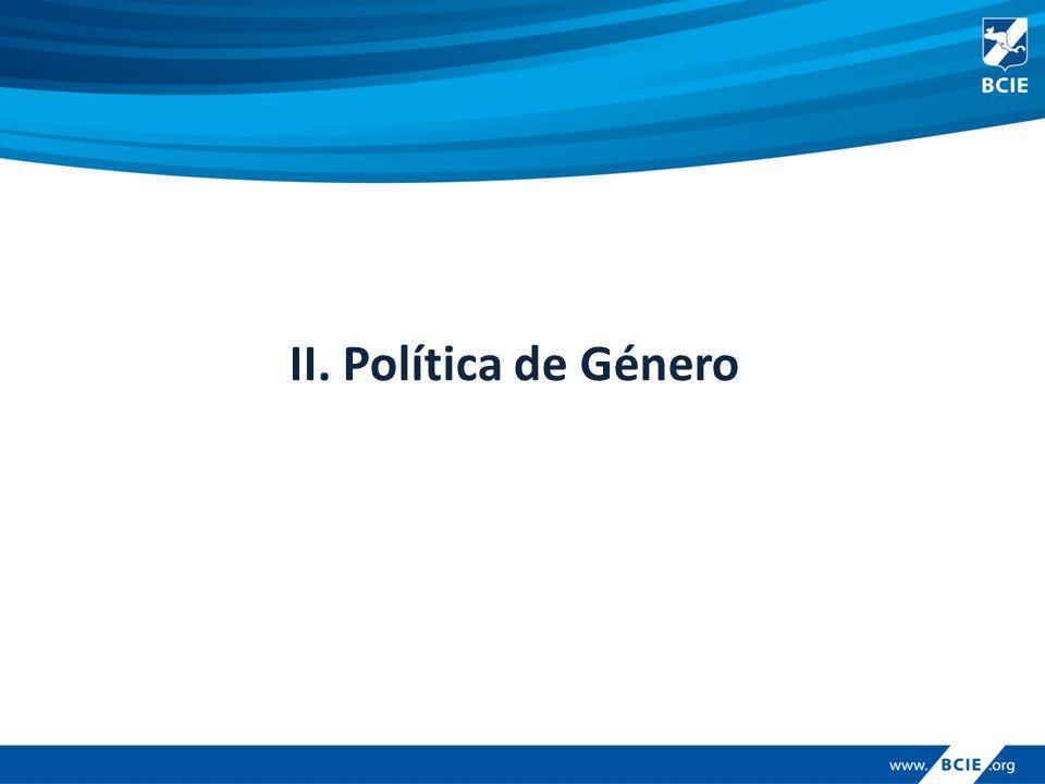 II. Política de Género