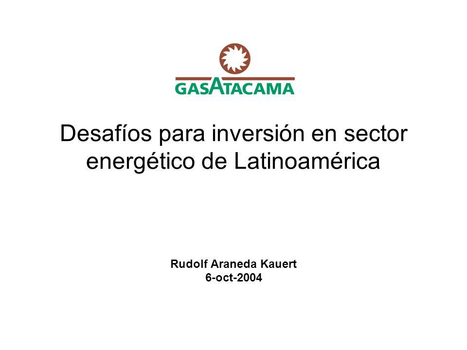 Desafíos para inversión en sector energético de Latinoamérica Rudolf Araneda Kauert 6-oct-2004