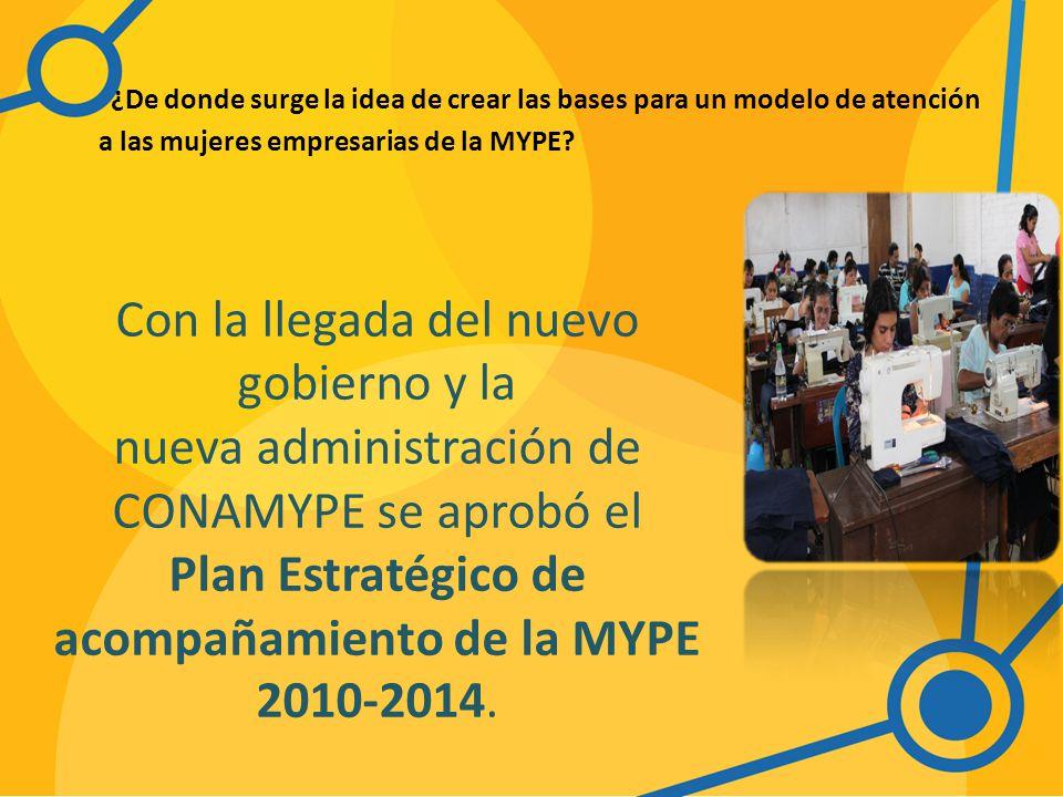 ¿De donde surge la idea de crear las bases para un modelo de atención a las mujeres empresarias de la MYPE.