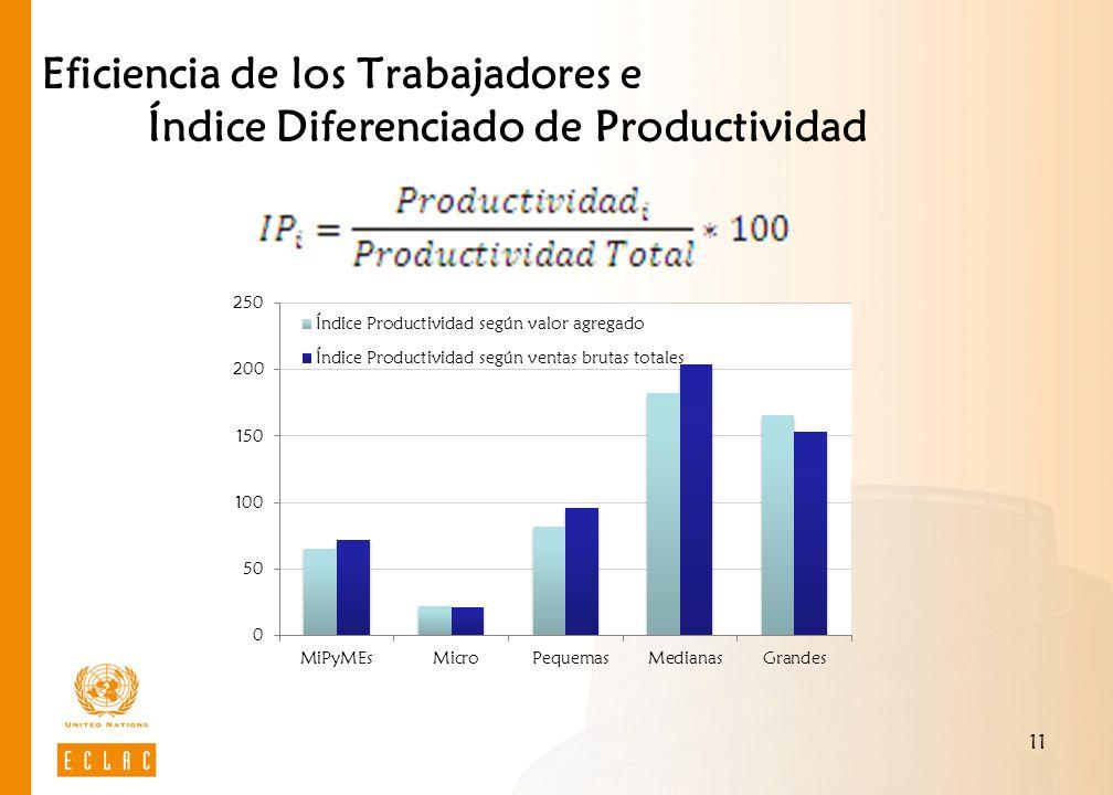 11 Eficiencia de los Trabajadores e Índice Diferenciado de Productividad