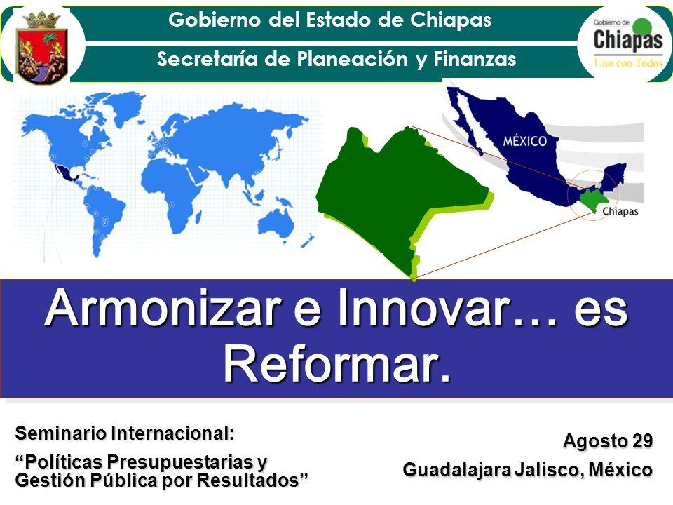 Gobierno del Estado de Chiapas Secretaría de Planeación y Finanzas Chiapas, en los últimos seis años ha vivido una etapa de transición integral, logrando revertir gradualmente rezagos en materia económica, social e institucional históricamente ancestral, propiciados, entre otros, por un modelo centralista, que ha privilegiado, el desarrollo del centro hacia el norte del país.