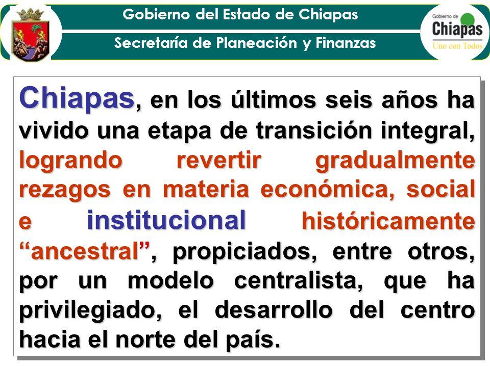 Gobierno del Estado de Chiapas Secretaría de Planeación y Finanzas Se integra metodología.