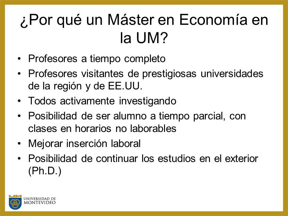 ¿Por qué un Máster en Economía en la UM.