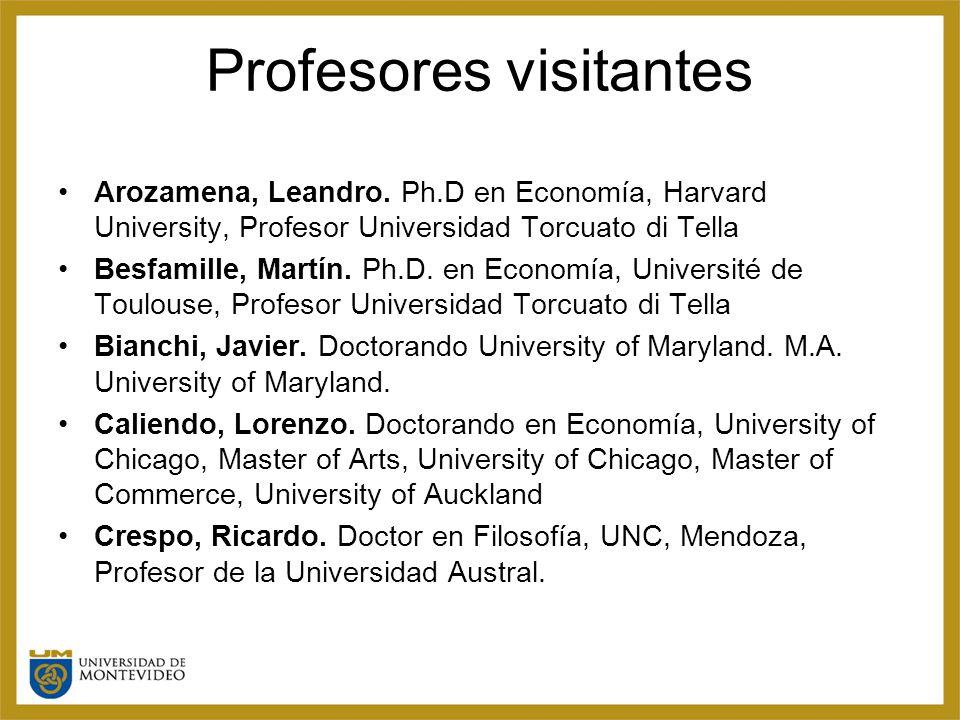 Profesores visitantes Arozamena, Leandro.