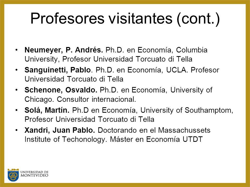 Profesores visitantes (cont.) Neumeyer, P. Andrés.