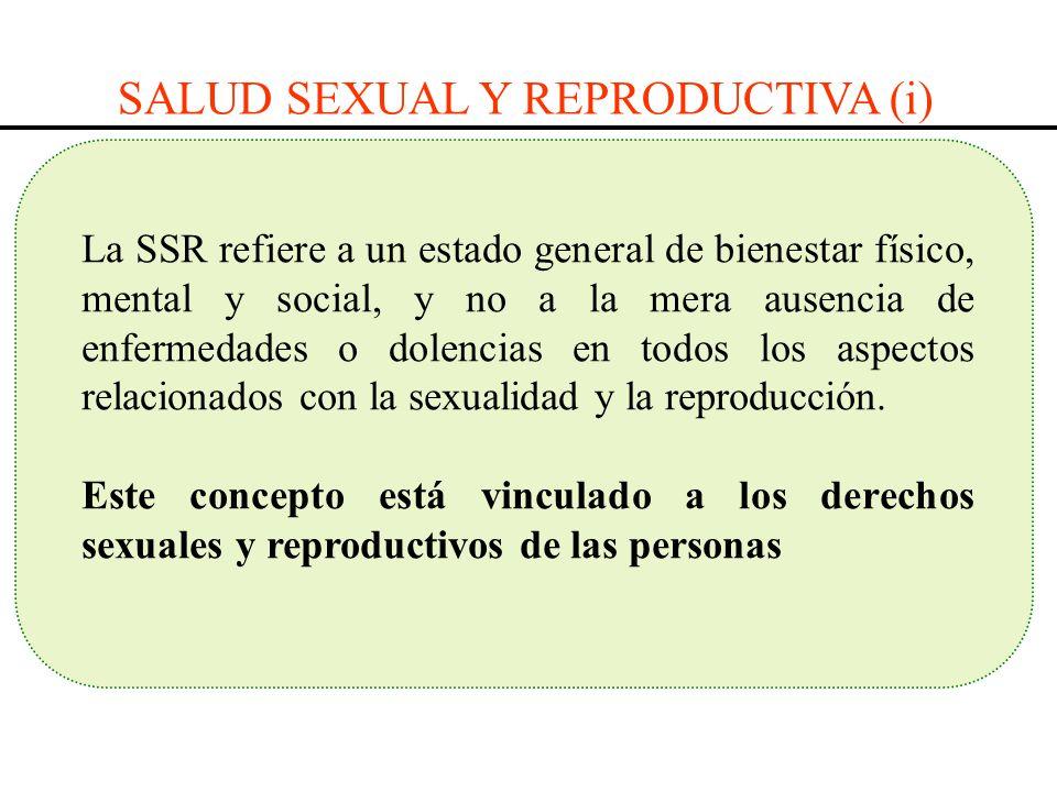 La SSR refiere a un estado general de bienestar físico, mental y social, y no a la mera ausencia de enfermedades o dolencias en todos los aspectos rel
