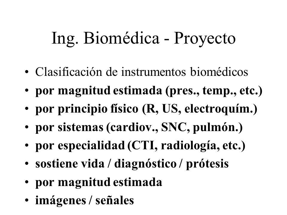 Ing. Biomédica - Proyecto Clasificación de instrumentos biomédicos por magnitud estimada (pres., temp., etc.) por principio físico (R, US, electroquím