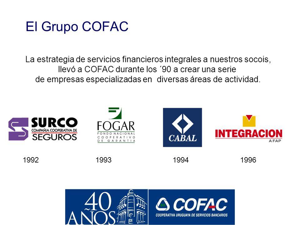 Fusiones y Adquisiciones El fuerte crecimiento de COFAC se produjo por el propio aumento de actividad así como por una activa política de fusiones y a