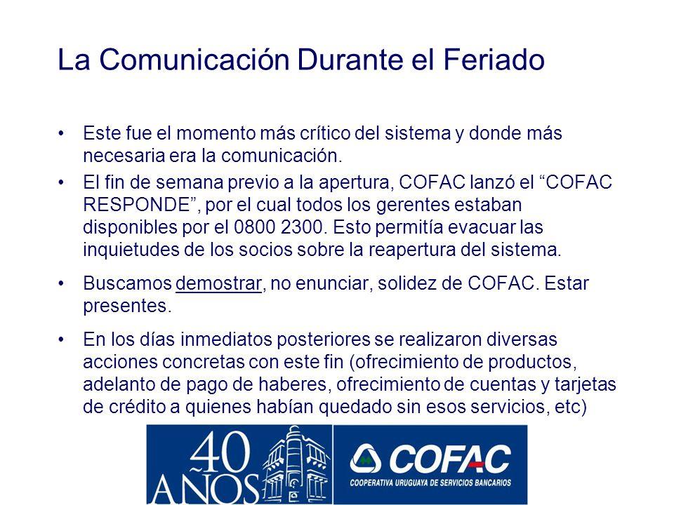 La Comunicación Durante la Crisis de 2002 La crisis comenzó fundamentalmente como una crisis de confianza en el sistema. Sin embargo, las comunicacion