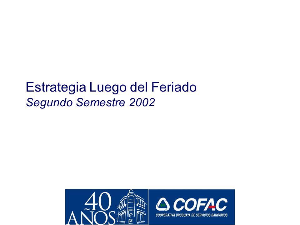 Institución Cuya Publicidad Recuerda Más (ago, 2002) Base: población de Montevideo con productos de ahorro Fuente: MAGIS, agosto 2002