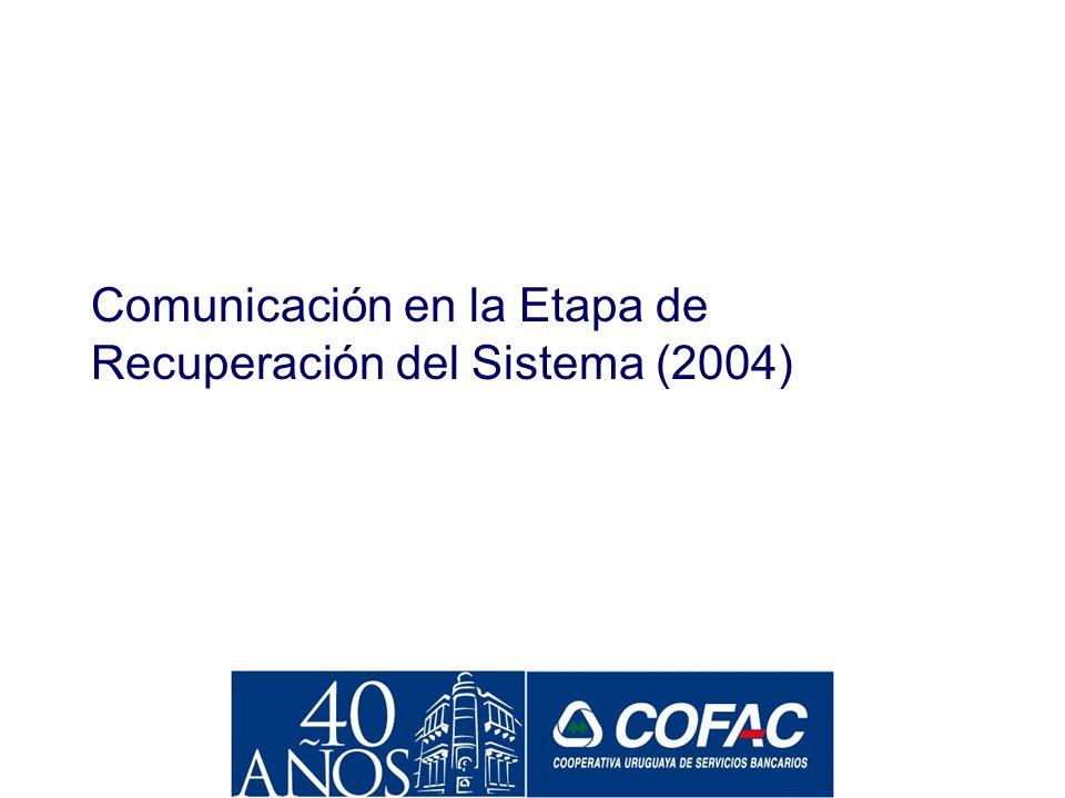 Efectos sobre percepción de COFAC Fuente: Equipos MORI Diciembre 2003