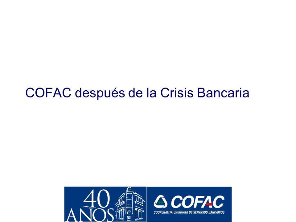 Acciones de COFAC Orientadas a la Reconstrucción del Sistema Promoción de refinanciación a deudores en dólares la misma semana de la devaluación. Prom