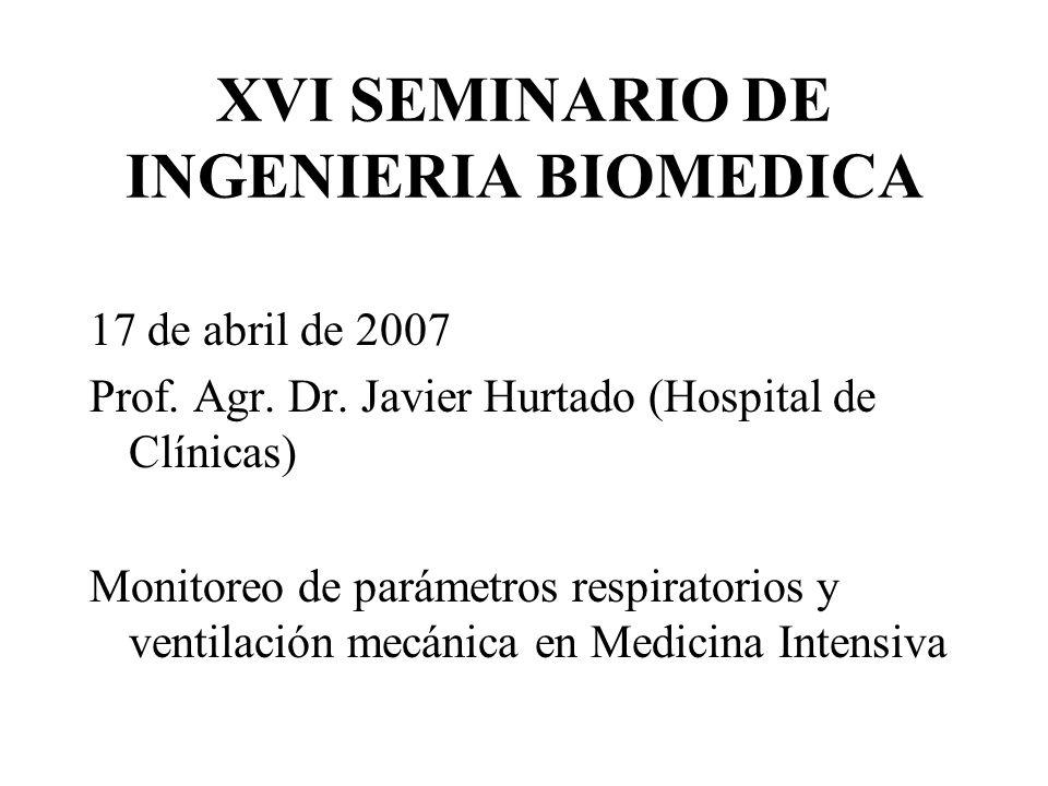 XVI SEMINARIO DE INGENIERIA BIOMEDICA 17 de abril de 2007 Prof.