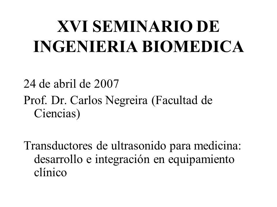 XVI SEMINARIO DE INGENIERIA BIOMEDICA 24 de abril de 2007 Prof.