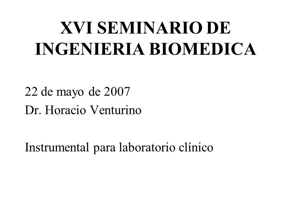 XVI SEMINARIO DE INGENIERIA BIOMEDICA 22 de mayo de 2007 Dr.