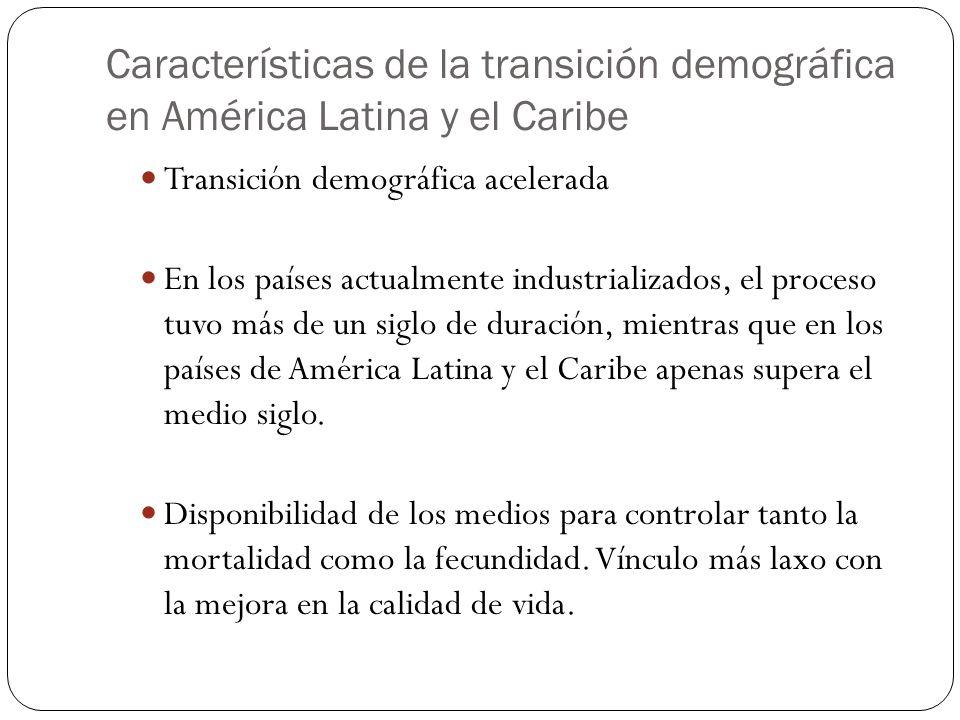 Características de la transición demográfica en América Latina y el Caribe 14 Transición demográfica acelerada En los países actualmente industrializa
