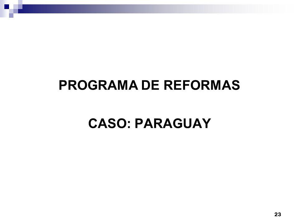 23 PROGRAMA DE REFORMAS CASO: PARAGUAY