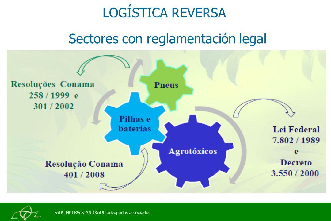 LOGÍSTICA REVERSA Sectores con reglamentación legal FALKENBERG & ANDRADE advogados associados