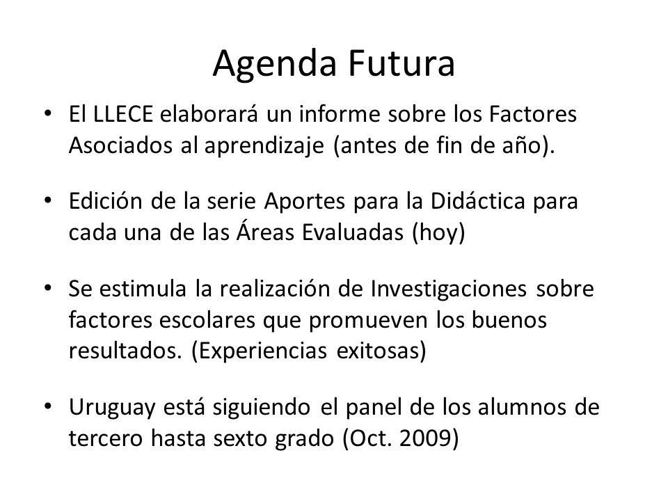 Agenda Futura El LLECE elaborará un informe sobre los Factores Asociados al aprendizaje (antes de fin de año). Edición de la serie Aportes para la Did