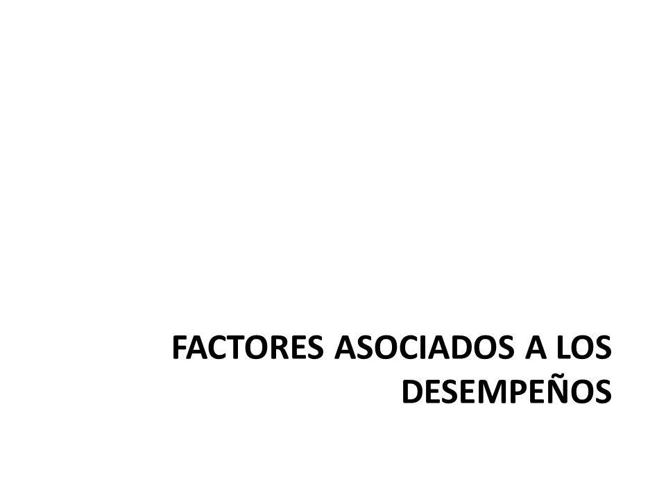 FACTORES ASOCIADOS A LOS DESEMPEÑOS