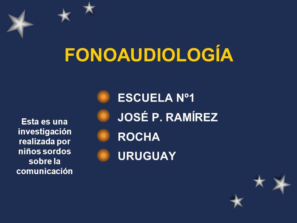 FONOAUDIOLOGÍA ESCUELA Nº1 JOSÉ P.