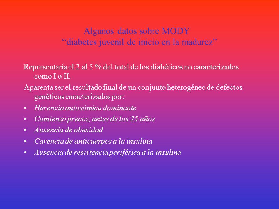 CLASIFICACIÓN DE LA ADA 2006 A)DM I – Central – Destrucción de las células β- Ausencia de insulina* DM I AAutoinmune DM I BDe Mecanismo desconocido B)