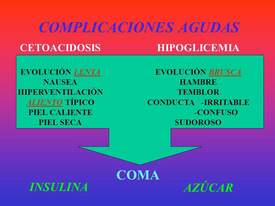 COMPLICACIONES CRÓNICAS NEUROPATÍASNEUROPATÍAS DESMIELINIZACIÓN SENSIBILIDAD PARESTESIA ANESTESIA S.N. AUTÓNOMO HIPOTENSIÓN ORTOSTÁTICA