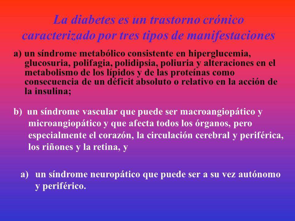 Concepto de diabetes mellitus La diabetes mellitus no es en una afección única, sino un síndrome dentro del cual deben individualizarse diferentes ent