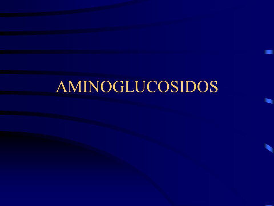 Aminoglucósidos Gentamicina Amicacina Otros Amplio espectro ??