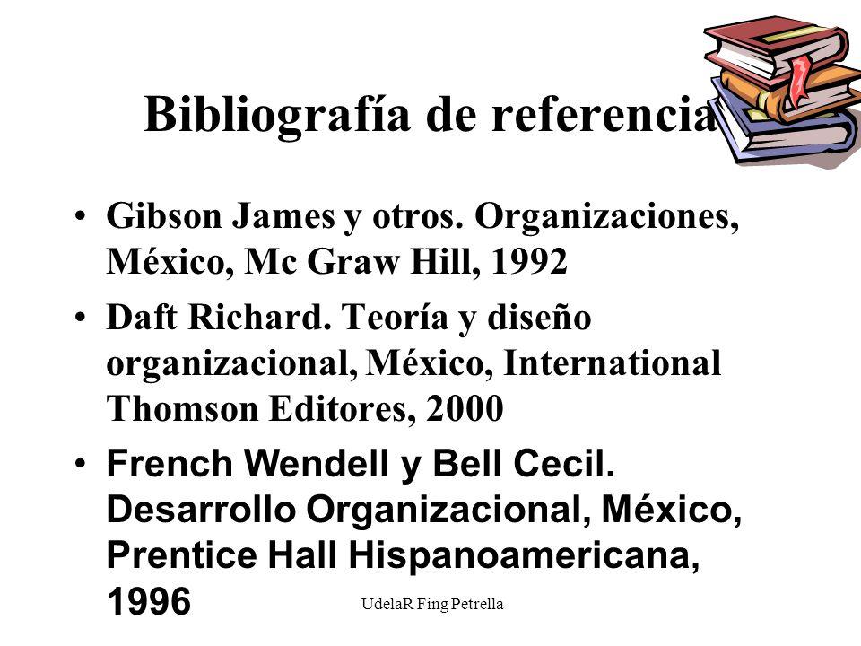 UdelaR Fing Petrella Bibliografía de referencia Gibson James y otros.