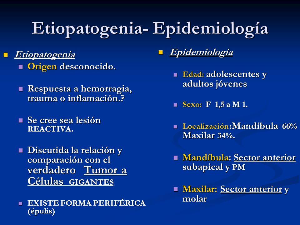 Etiopatogenia- Epidemiología Etiopatogenia Etiopatogenia Origen desconocido. Origen desconocido. Respuesta a hemorragia, trauma o inflamación.? Respue