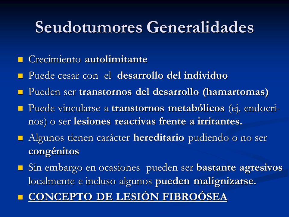 Clasificación I) Primarios I) Primarios II) Metastásicos II) Metastásicos III) Por invasión de vecindad III) Por invasión de vecindad La mayoría son sarcomas en jóvenes con metástasis por vía sanguínea a distancia: otros huesos, pulmón, cerebro, hígado y otras.