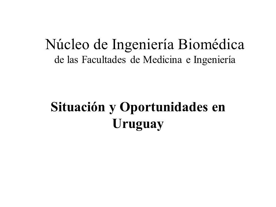Núcleo de Ingeniería Biomédica de las Facultades de Medicina e Ingeniería Situación y Oportunidades en Uruguay