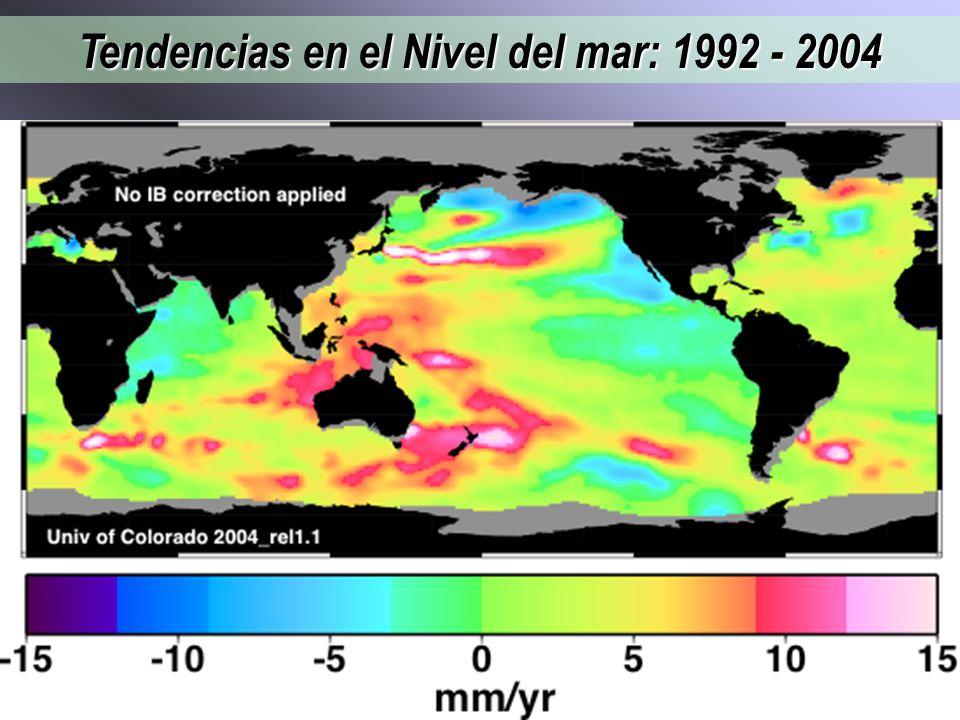 Tendencias en el Nivel del mar: 1992 - 2004