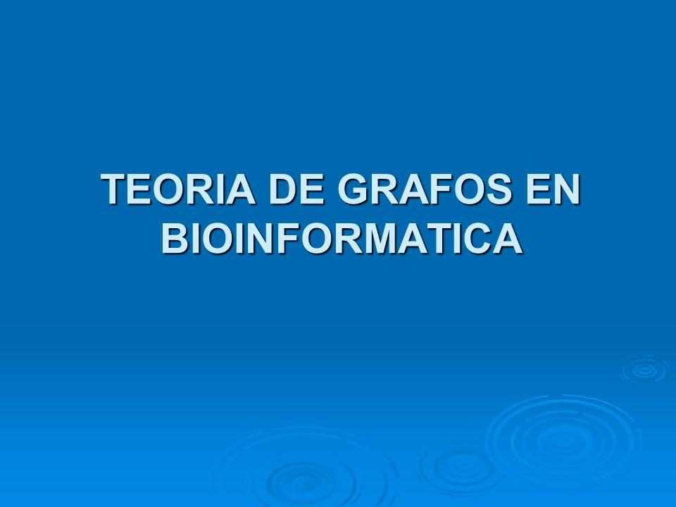 TEORIA DE GRAFOS EN BIOINFORMATICA