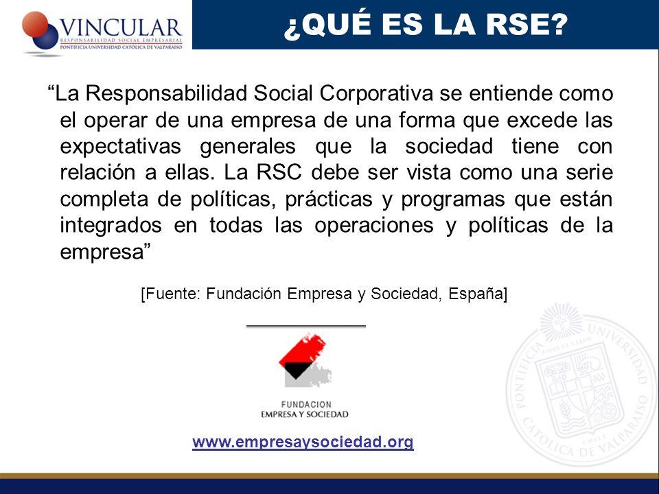 La Responsabilidad Social Corporativa se entiende como el operar de una empresa de una forma que excede las expectativas generales que la sociedad tiene con relación a ellas.