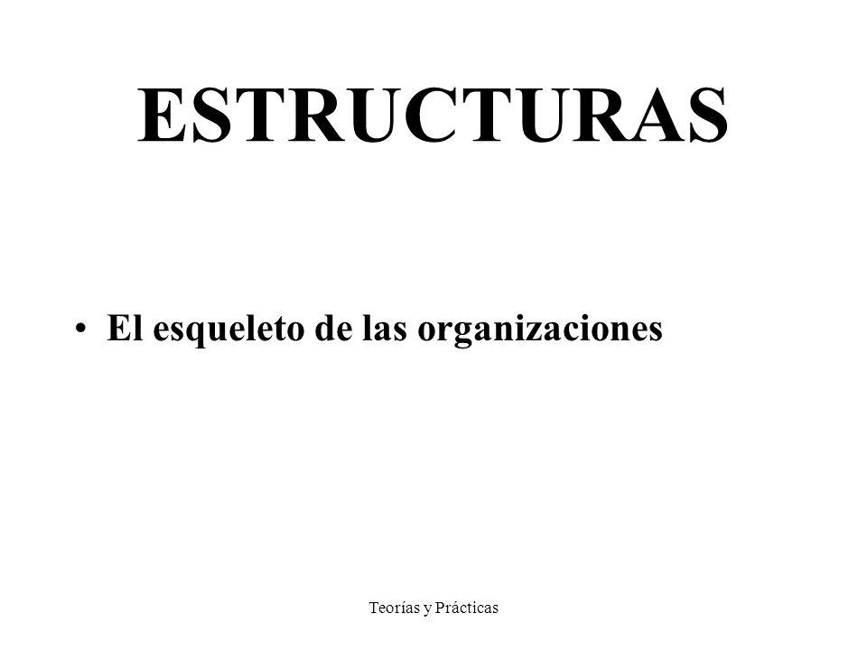 Teorías y Prácticas ESTRUCTURAS El esqueleto de las organizaciones
