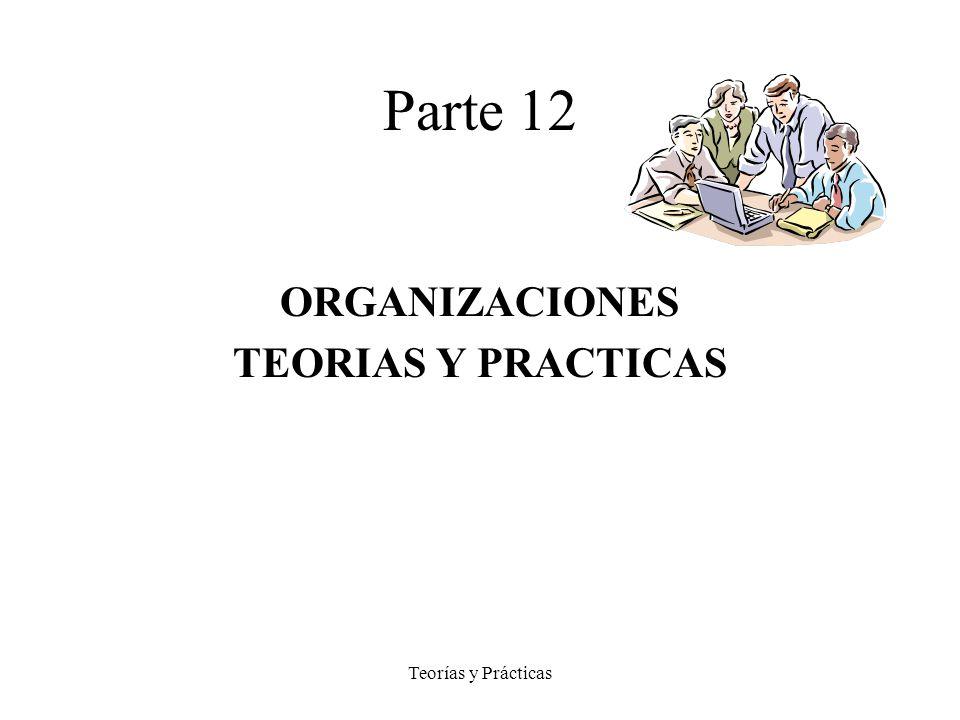 Teorías y Prácticas Parte 12 ORGANIZACIONES TEORIAS Y PRACTICAS