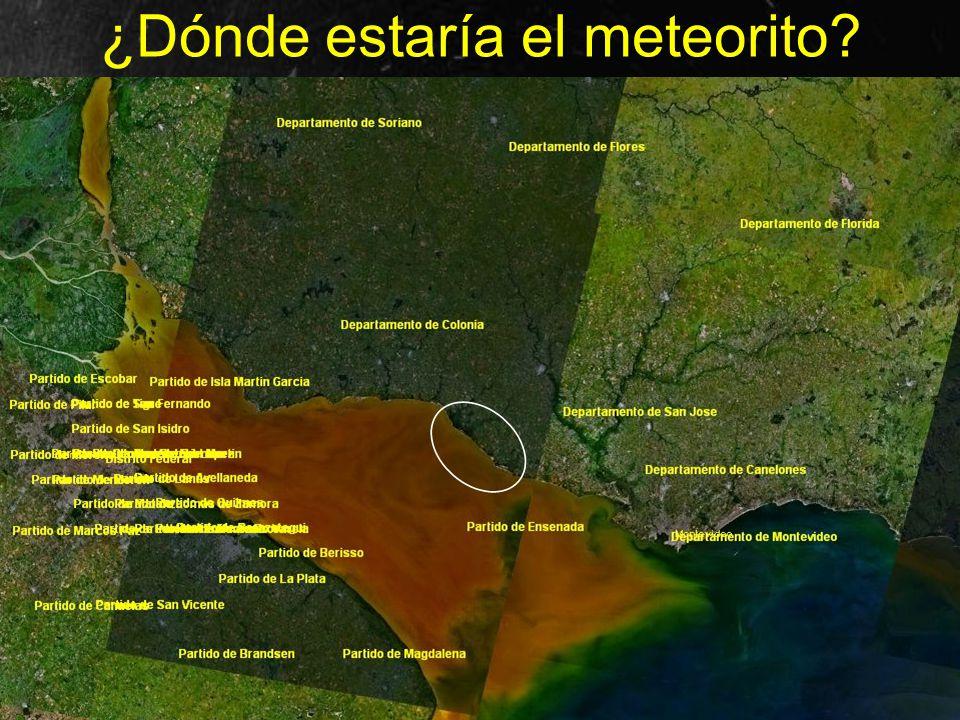 ¿Dónde estaría el meteorito?