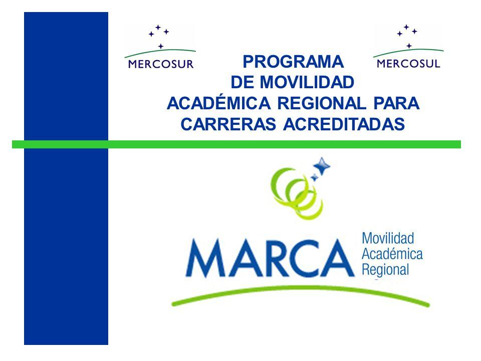 PROGRAMA DE MOVILIDAD ACADÉMICA REGIONAL PARA CARRERAS ACREDITADAS