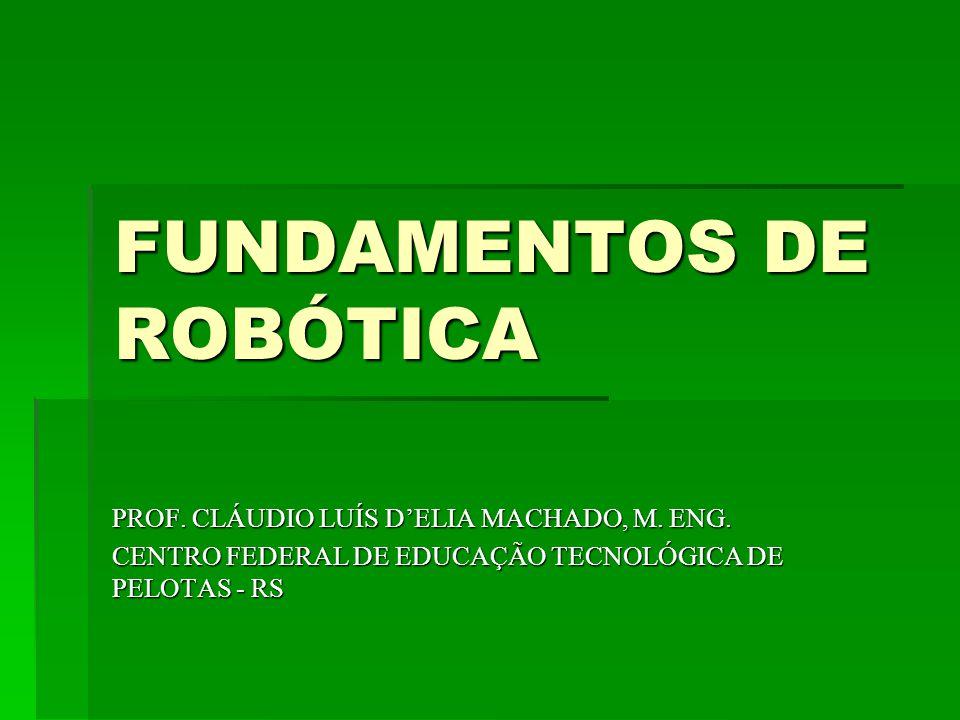 FUNDAMENTOS DE ROBÓTICA PROF.CLÁUDIO LUÍS DELIA MACHADO, M.