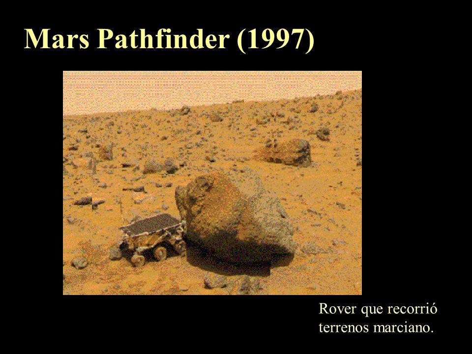 Mosaico de los polos marcianos (imagenes de la Mariner 9). (a) Sur, compuesto por CO 2 (b) Norte, compuesto por hielo de agua.