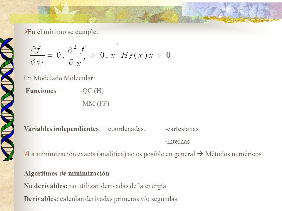 Cuasi-Newton Esta categoría engloba a una serie de métodos los cuales van construyendo gradualmente el inverso de la matriz Hessiana en iteraciones sucesivas.