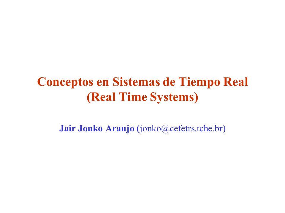 Conceptos en Sistemas de Tiempo Real (Real Time Systems) Jair Jonko Araujo (jonko@cefetrs.tche.br)