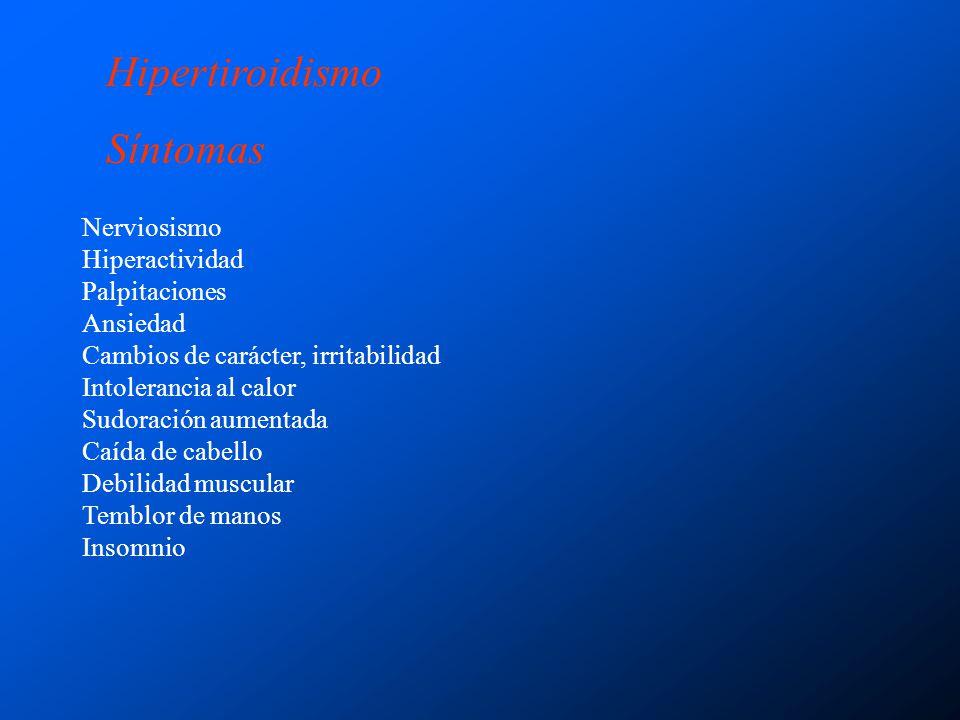 Hipotiroidismo Primario Del desarrollo Síndrome de resistencia a la hormona tiroidea Postablación Cirugia, terapia con radioyodo o radiación externa Hipotiroidismo autoinmune.