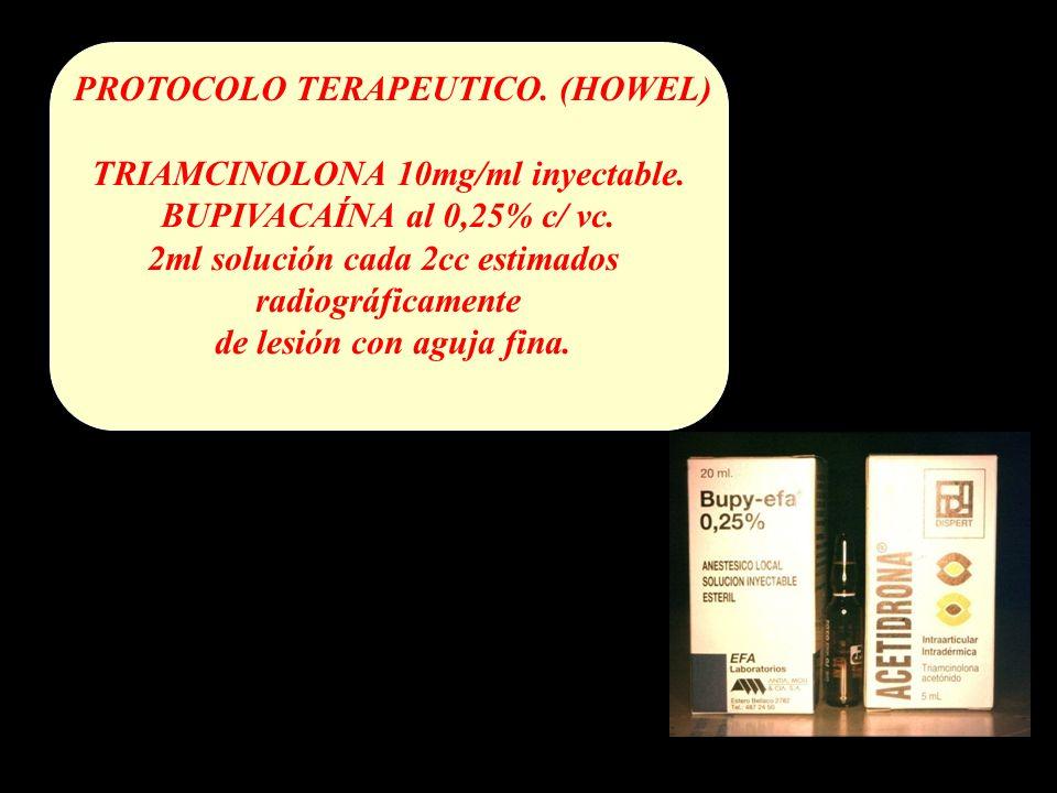 PROTOCOLO TERAPEUTICO.(HOWEL) TRIAMCINOLONA 10mg/ml inyectable.