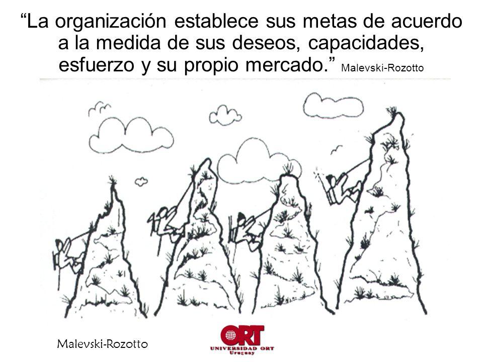 Malevski-Rozotto La organización establece sus metas de acuerdo a la medida de sus deseos, capacidades, esfuerzo y su propio mercado. Malevski-Rozotto