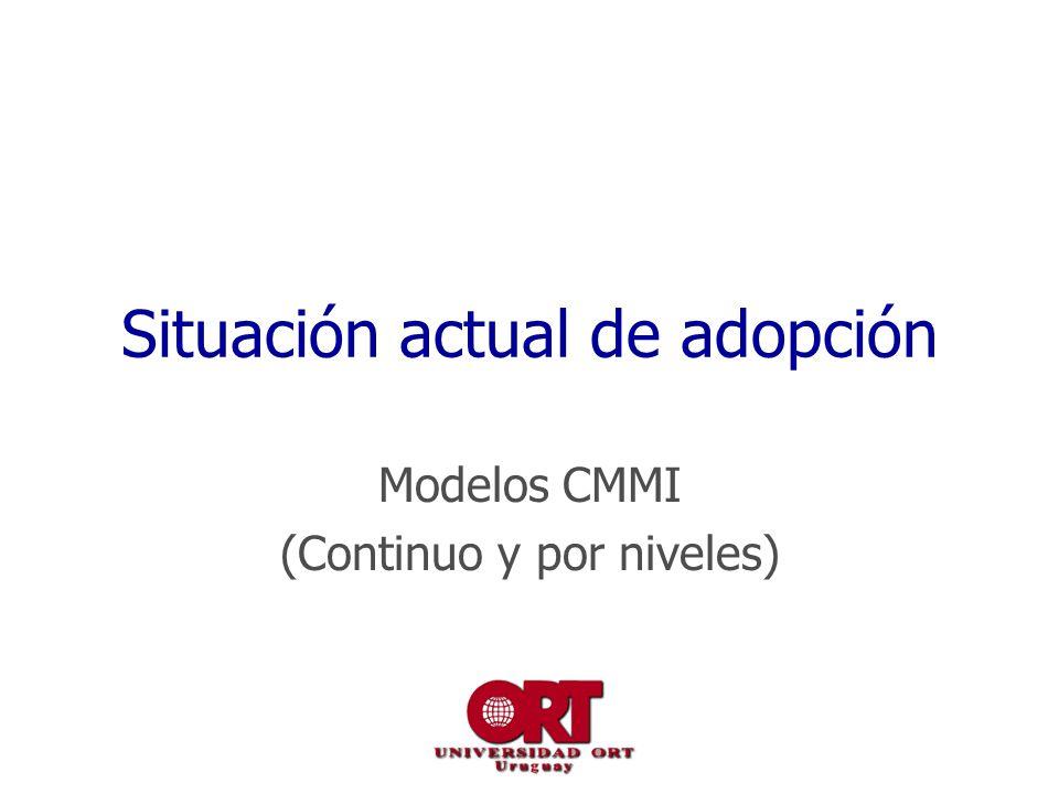 Situación actual de adopción Modelos CMMI (Continuo y por niveles)